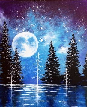 Moonrise Lake at Capitol Music Club - Paint Nite Events near Saskatoon, SK>