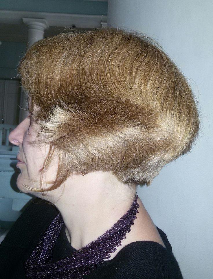 Вид в профиль №2. Стрижка боб на пышные густые волосы, не требующая специальной укладки