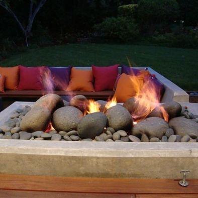 modern zen design pictures remodel decor and ideas page 58 - Versunkene Feuerstelle Designs