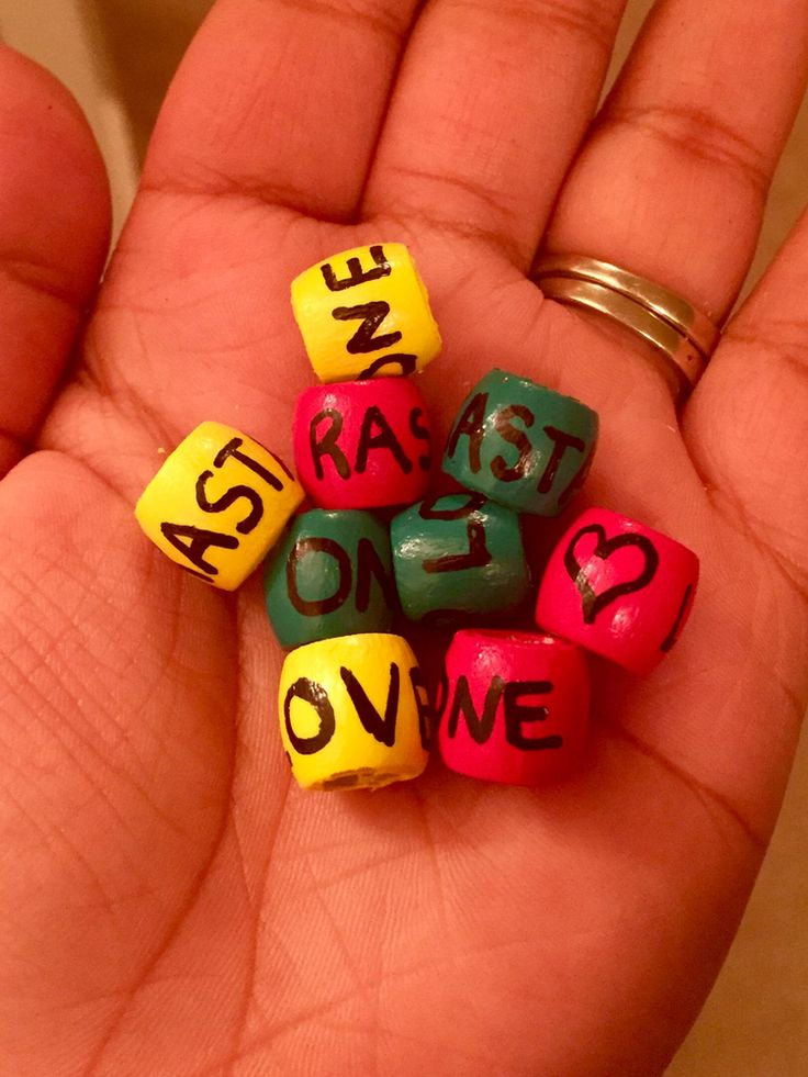 Jamaican Rasta Love Inspired Beads! Customized with your word choices! Sooooo cool mon'