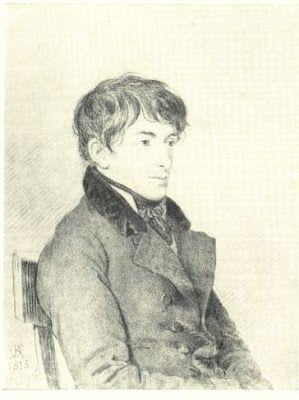 О. А. Кипренский Портрет Муравьева Никиты Михайловича (1796—1843) Бумага, карандаш.. 1815 год