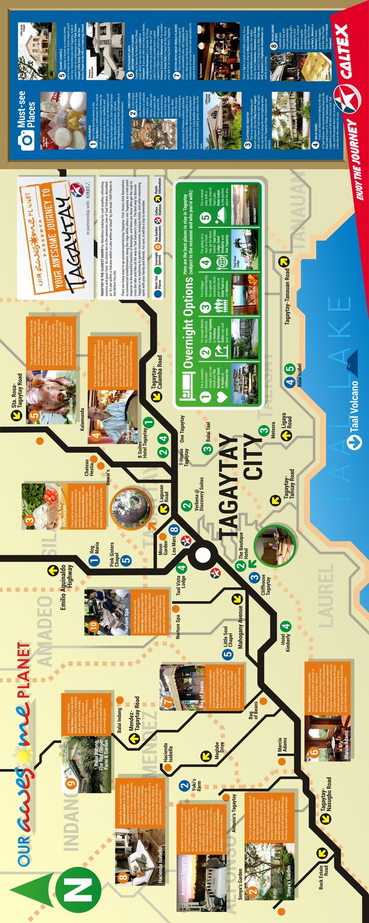 Our Awesome Planet in partnership with Caltex Philippines presents Awesome Journeys Infographics: (Download: Your Awesome Journey to Tagaytay Food Trip PDF File for Printing ) Awesome Journey Infographics Series: PAGUDPUD: Your Awesome Journey to Pagudpud (Infographic) BICOL: Awesome Journey to...
