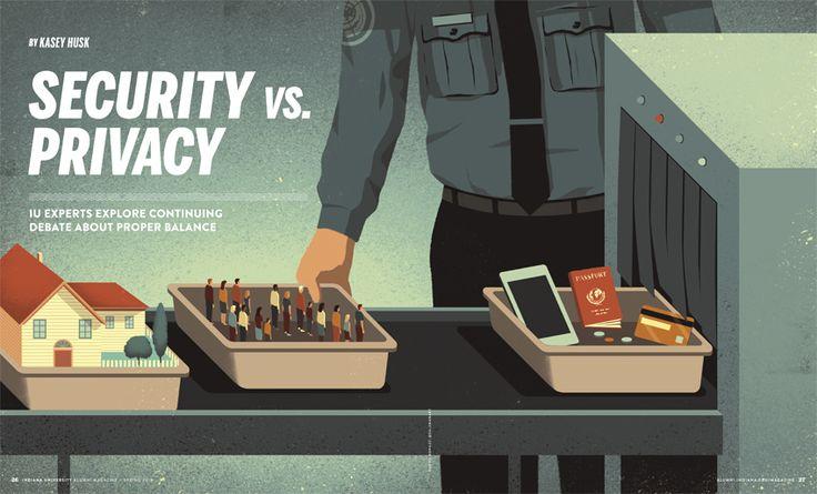 Davide Bonazzi - Security vs. privacy. Client: Indiana University magazine. #conceptual #illustration #editorial