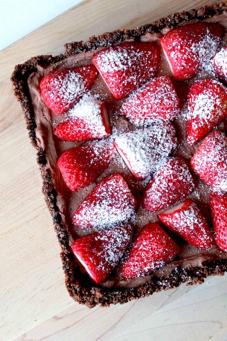 Strawberry and Chocolate Cream Pie