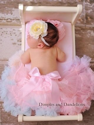 Pink tutu baby - in a doll's crib... I have a photo of Shannon in one too