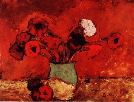 Carnations and Poppies by Stefan Luchian. Impressionism. still life