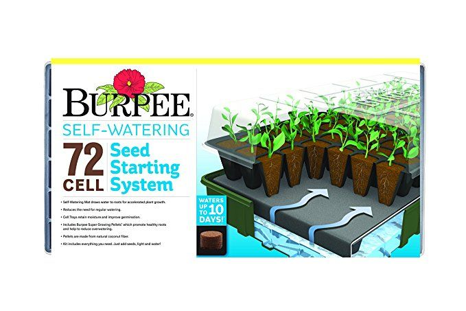 Burpee 72 Cell Self Watering Seed Starting Kit Burpee 72 Cell