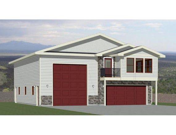 40x48 House 1 Bedroom 1 5 Bath 1410 Sq Ft Pdf Floor Etsy In 2020 House Plans Floor Plans Cabin House Plans