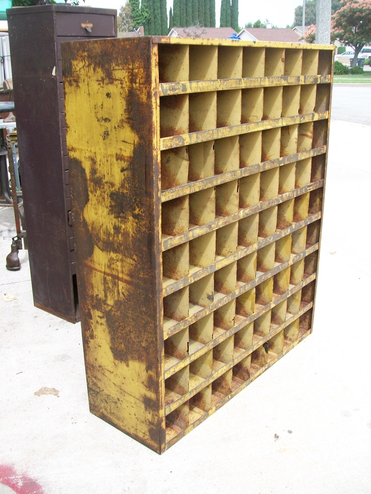 Cubby Hole Vintage Industrial And Cubbies On Pinterest