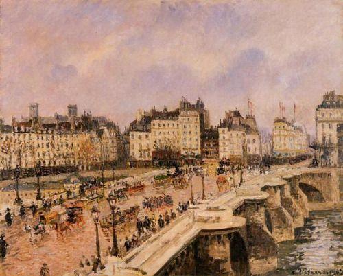 impressionism-art-blog: The Pont Neuf via Camille PissarroSize:...