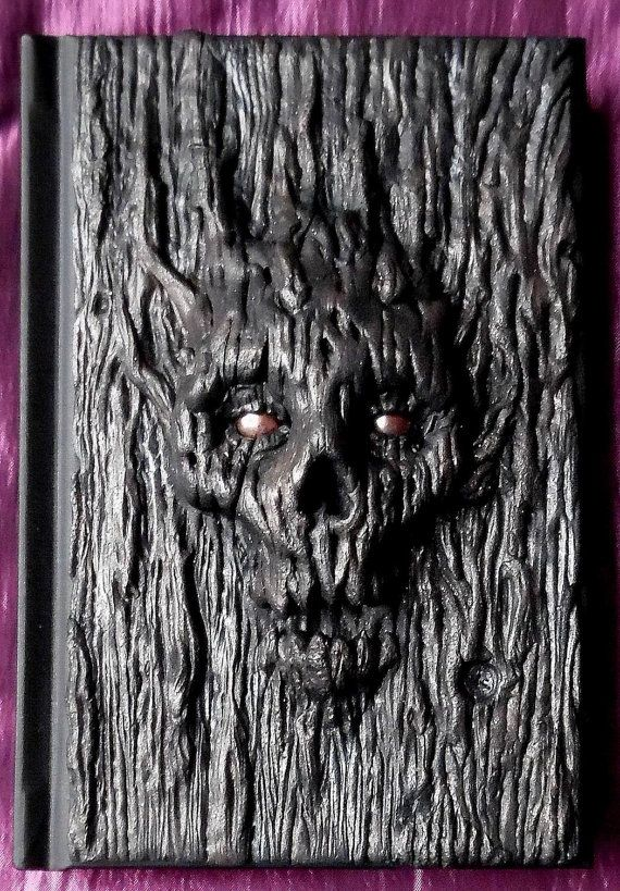 Tree skull polymer clay journal 98 blank sheets by ClaymanPL