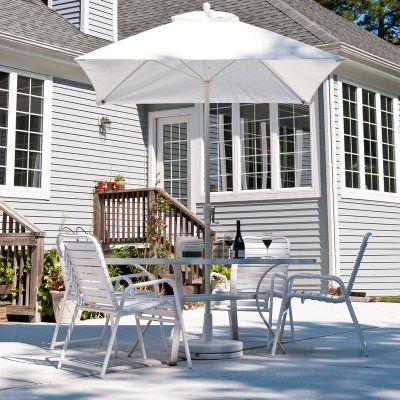 Frankford Umbrella Monterey Collection 7.5 ft. Solid Square Commercial Fiberglass Market Umbrella with Crank No Tilt Coral - 464FMC-SR-CRA