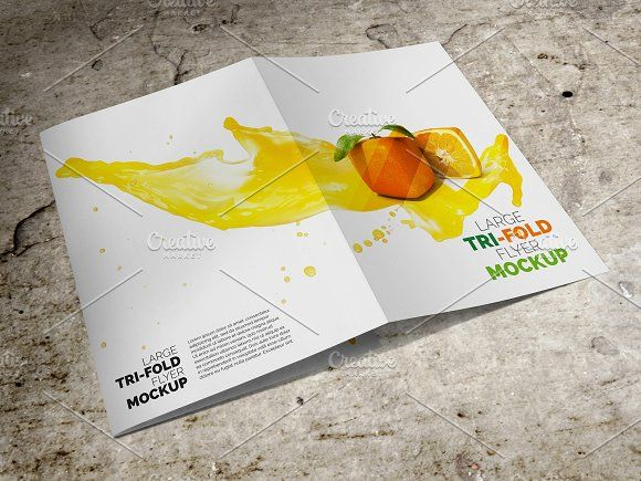 Large Trifold Brochure Mockup by Vecto Designs on @creativemarket