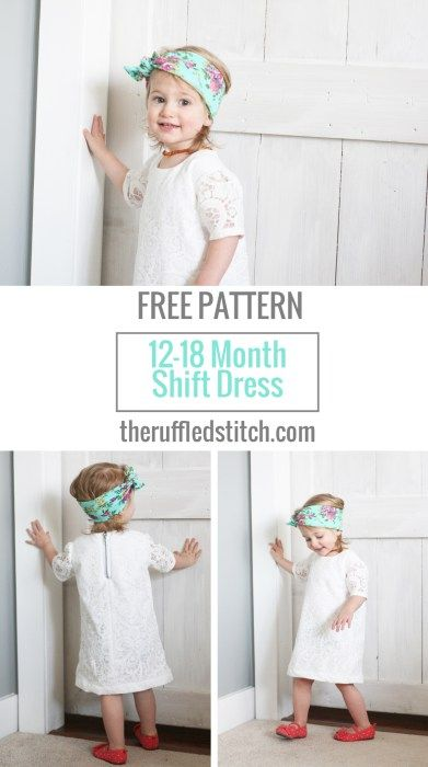 Toddler Shift Dress Free Pattern and Tutorial