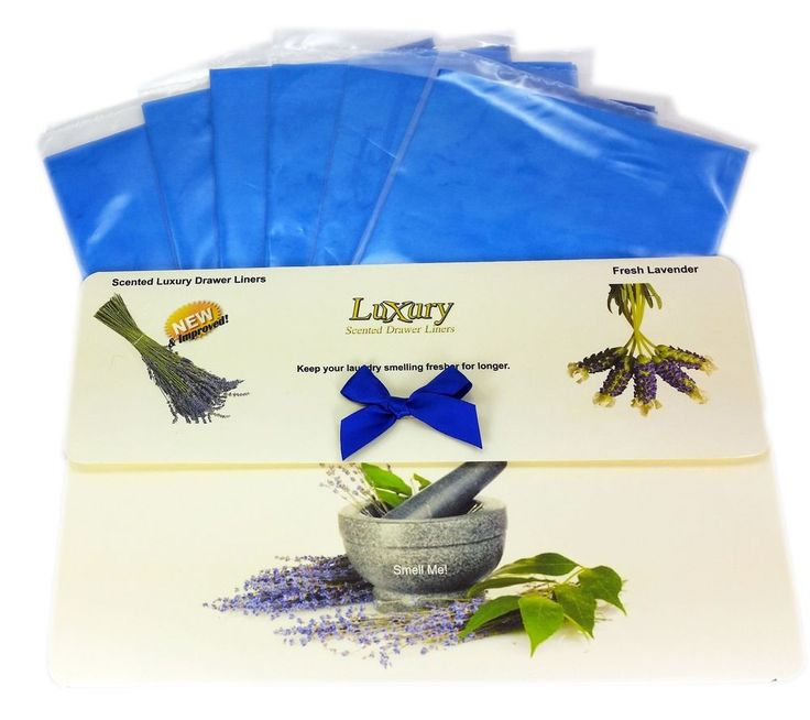6 Pack of Lavender Scented Luxury Drawer Liners 120gsm BLACK FRIDAY Sale!