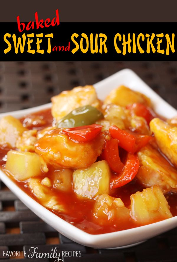 Baked Sweet and Sour Chicken | Recipes | Pinterest
