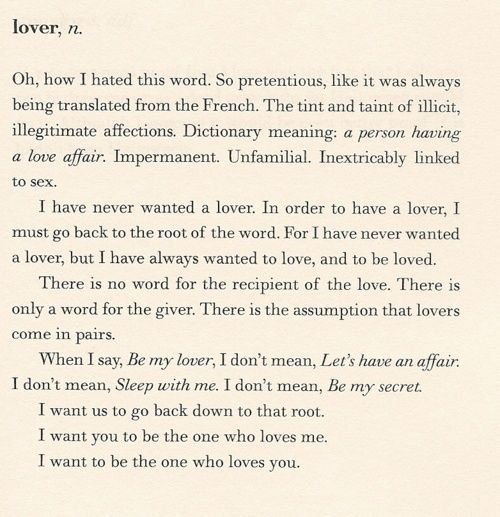 fleurishes:    David Levithan,The Lover's Dictionary