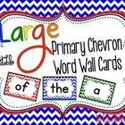 100 plus Large Chevron Word Wall Word Cards in red, yellow, blue, green, orange, and purple.  There are four cards to a page. ...