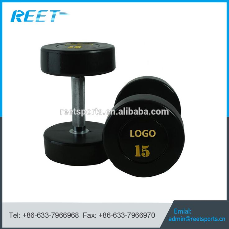 China Factory Color Custom PU Dumbbell For Sale