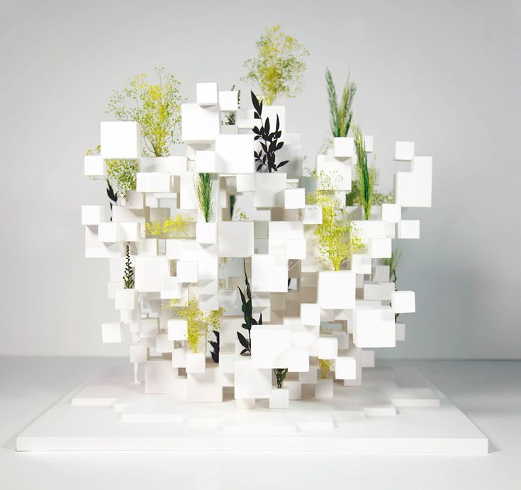 suo fujimoto adds greenery to layered cube installation in paris