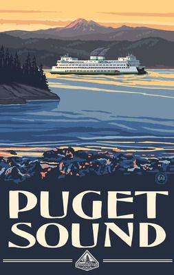 Puget Sound Ferry. This is such a neat way of getting around after living in the desert for so long.