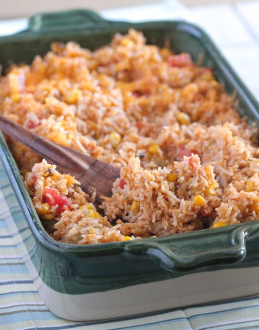Green Chilie Chicken Enchilada Rice Bake - Picky Palate