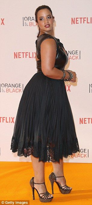 Welcome to Litchfield: Orange Is The New Black is back for season four ~ Actress Dascha Polanco brought a risque element to the big night, mixing things up in a leather and lace dress which made the most of her fabulous curves