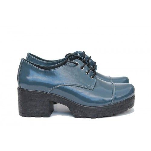 Синие туфли женские В-4020-01