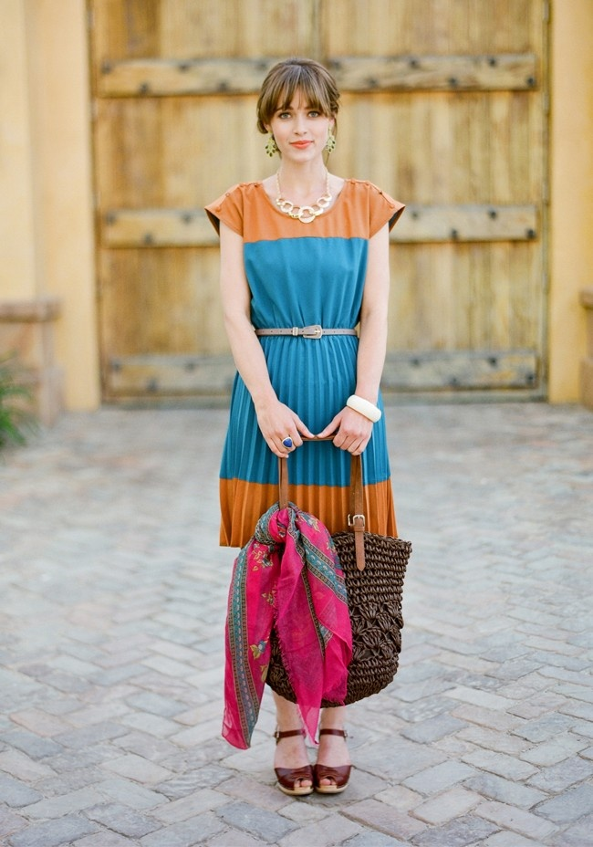 Cute travel dress!: Cute Dresses, Tuscan Sun, Travel Fashion, Summer Travel, Colorblock Dresses, Vintage Shops, Country Club, Ruched Lookbook, Travel Outfits