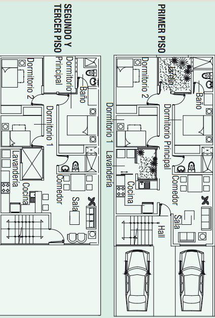 planos para construir 3 apartamentos en 130m2 via www