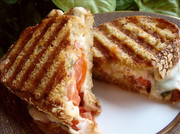 "Caprese Panini: ""Yum! I thought I was eating a gourmet sandwich from a nice restaurant. I chopped the basil to release more of its flavor."" -rjoyce1"