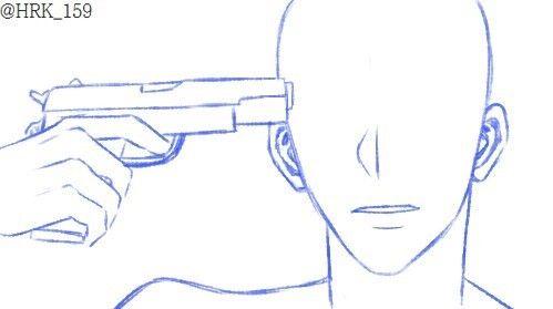 Poses. Gun