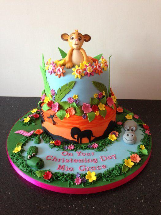 Decorating Ideas > Lion King Christening Cake  Lion King Cakes  Pinterest ~ 134721_Lion King Cake Decoration Ideas