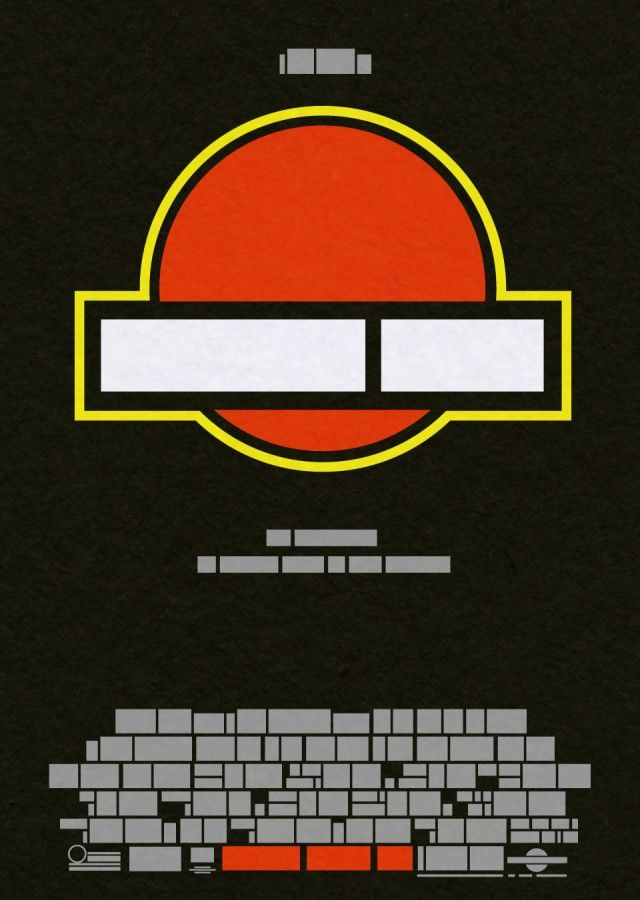 Film the Blanks by John Taylor Movie posters reduced to their minimal elements