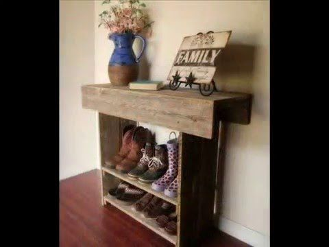 50 идей полок для обуви своими руками. Мебель для обуви из дерева поддонов, паллет! - YouTube