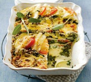 Das Rezept für Kohlrabi-Spinat-Lasagne und weitere kostenlose Rezepte auf LECKER.de