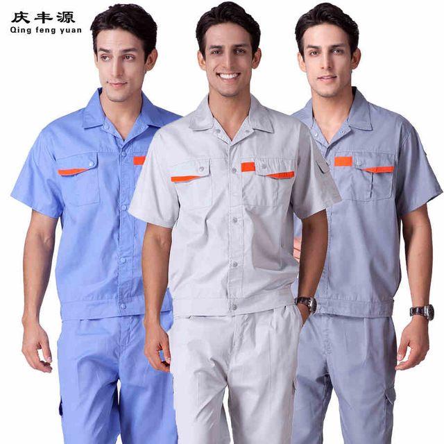 4XL comfortable grey working clothes Big Size Suit Sets Men Coveralls wholesale