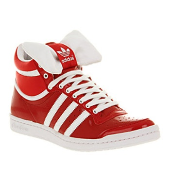 Adidas TOP TEN HI SLEEK UNI RED WHT WHT BOW TIE Shoes - Adidas Trainers - Office Shoes