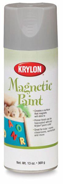 Krylon Magnetic Paint, via Blick. I had no idea this stuff existed.