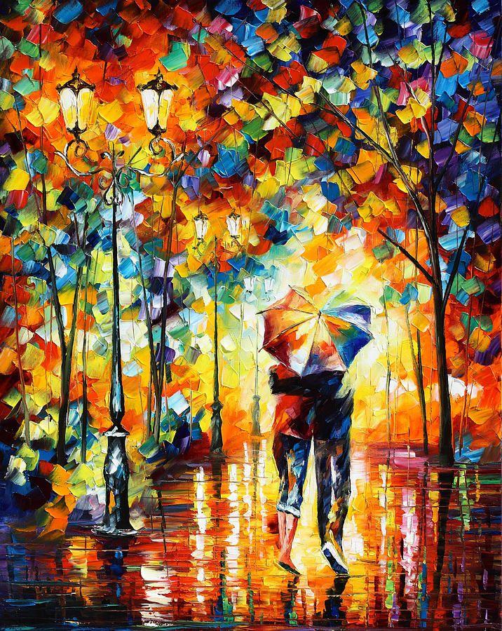 Under One Umbrella Painting  - Under One Umbrella Fine Art Print