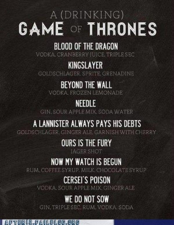 game of thrones drinksDrinking Games, Drinks Games, Thrones Drinks, Games Of Thrones, Gameofthrones,  Plaque, Drinks Recipe, Game Of Thrones, Mixed Drinks