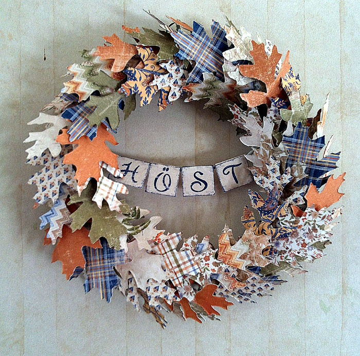 Scraplagret - din scrapbutik på nätet: En krans för att fira hösten!