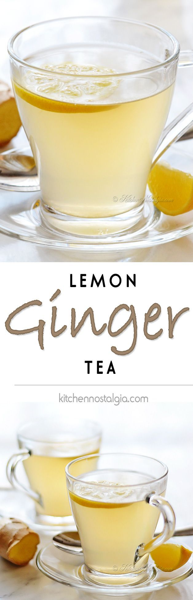 Lemon Ginger Tea - kitchennostalgia.com
