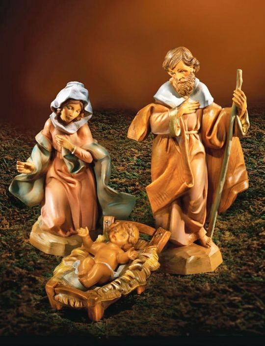 Fontanini 5 Inch Scale Holy Family - Set ( Crib Included )