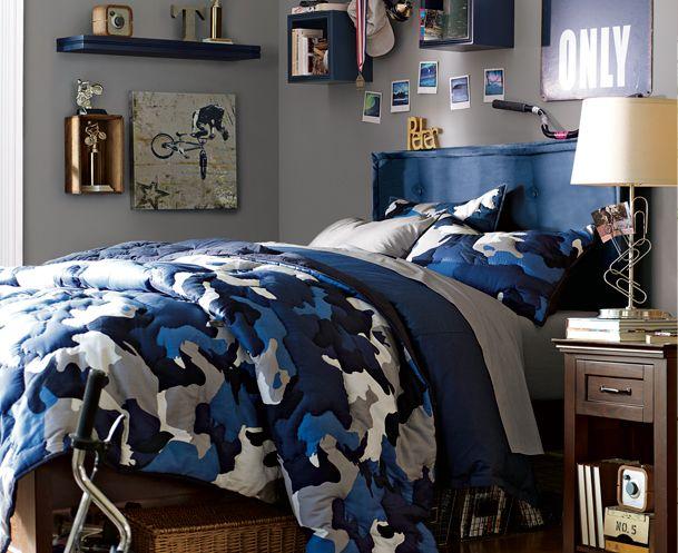 Camo Bedrooms & Boys Blue Bedrooms   PBteen
