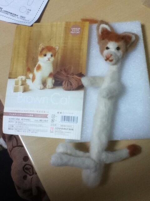 【悲報】友達が「簡単だよ!」って言うから、羊毛フェルトの猫を作ってみたら大変なことになったwww : キニ速