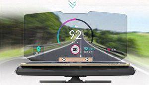 Heads Up Display, GPS HUD Heads Up Display for Cars, Universal Smart Mobile Cell Phone GPS Car Holder Mounts Navigation Bracket for Car…