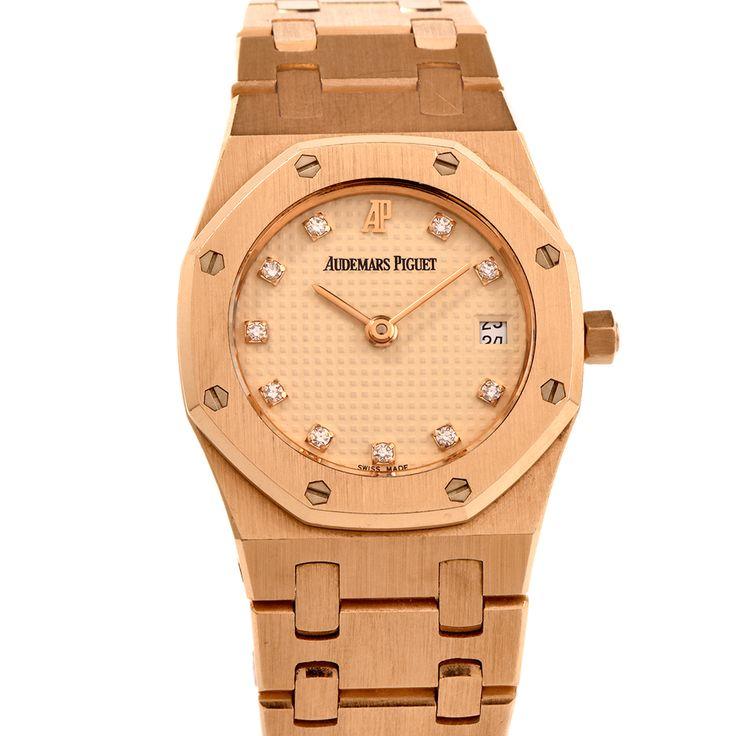 Audemars Piguet Royal Oak Diamond 18K Ladies Rose Gold Watch Item # 113922