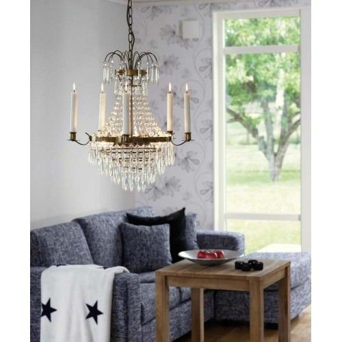 A crystal Chandelier for my living room.  If I can afford it , meaning it has to be a cheap one. Thats why we have tradera :).