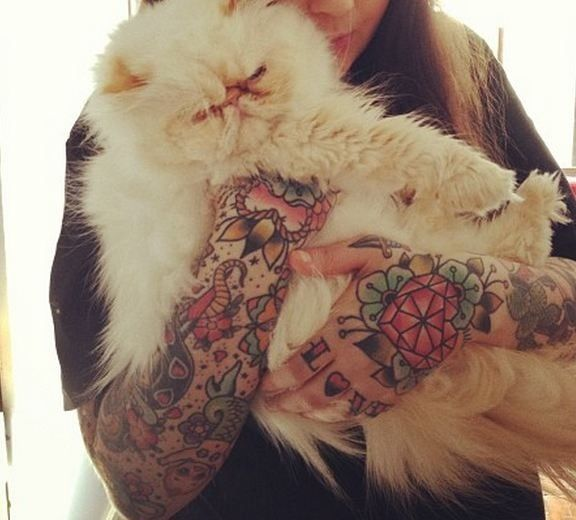 Traditional tattoo. Sleeves.